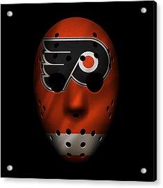Flyers Jersey Mask Acrylic Print by Joe Hamilton