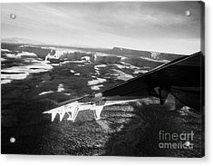 flying over land approaches to the rim of the grand canyon Arizona USA Acrylic Print by Joe Fox