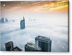 Fog In Dubai Acrylic Print by Umar Shariff Photography