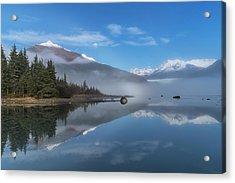 Foggy Morning At Mendenhall Lake Acrylic Print
