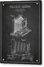 Folding Camera Patent Drawing From 1904 Acrylic Print