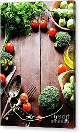 Food Ingredients Acrylic Print