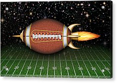 Football Spaceship Acrylic Print