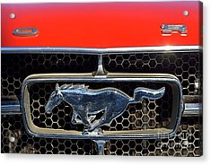 Ford Mustang Badge Acrylic Print by George Atsametakis