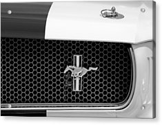 Ford Mustang Gt 350 Grille Emblem Acrylic Print by Jill Reger