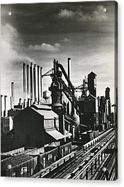 Ford's River Rouge Plant Acrylic Print by Underwood Archives
