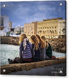 Foreign Students Cadiz Spain Acrylic Print