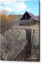 Forgotten Barn Acrylic Print by Kimberly Maiden