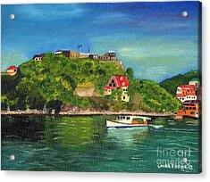 Acrylic Print featuring the painting Fort George Grenada by Laura Forde
