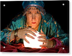 Fortune Teller And Crystal Ball Acrylic Print
