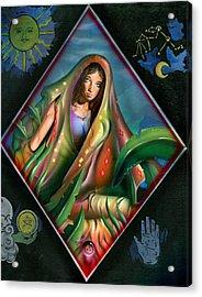 Fortune Teller Acrylic Print by Luis  Navarro