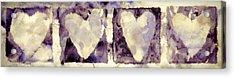 Four Hearts Acrylic Print