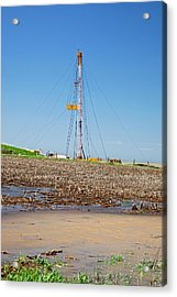 Fracking Drill Rig Acrylic Print by Jim West
