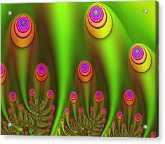 Fractal Fantasy Garden Acrylic Print by Gabiw Art