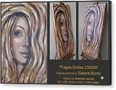 Acrylic Print featuring the painting Fragile Smiles 230509 by Selena Boron