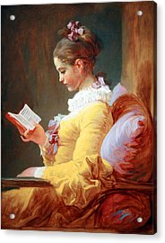Acrylic Print featuring the photograph Fragonard's Young Girl Reading by Cora Wandel