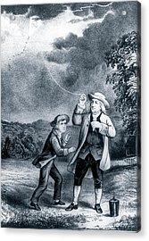 Franklin's Lightning Experiment Acrylic Print