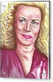 Acrylic Print featuring the pastel Frau Washington by Alga Washington