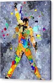 Freddie Mercury Acrylic Print by Daniel Janda