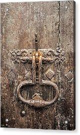 French Door Knocker Acrylic Print