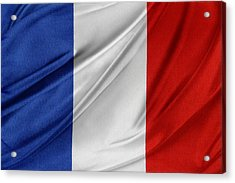 French Flag  Acrylic Print by Les Cunliffe