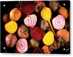 Fresh Beetroot And Red Onions Acrylic Print by Aberration Films Ltd