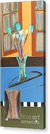 Acrylic Print featuring the painting Fresh Flowers by Bill OConnor