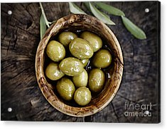 Fresh Olives Acrylic Print by Mythja  Photography