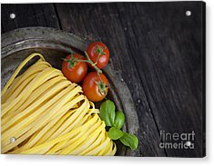 Fresh Pasta Acrylic Print by Mythja  Photography