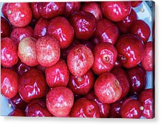 Fresh Picked Cherries In Whitefish Acrylic Print by Chuck Haney