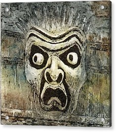 Fright Acrylic Print by Suzette Broad