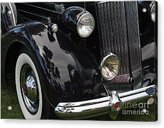 Acrylic Print featuring the photograph Front Side Of A Classic Car by Gunter Nezhoda