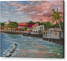 Front Street Lahaina At Sunset Acrylic Print