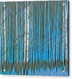 Frosty Blue Acrylic Print
