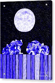 Full Moon Blues Cats Acrylic Print by Nick Gustafson