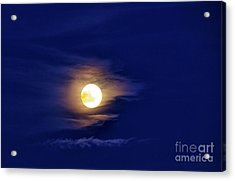 Full Moon With Clouds Acrylic Print by Thomas R Fletcher
