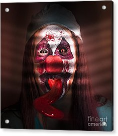 Funny Medical Clown In The Hospital Closet Acrylic Print
