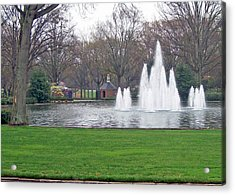 Furman Fountain Acrylic Print by Larry Bishop