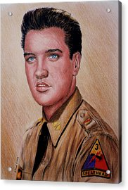 G I Elvis  Acrylic Print by Andrew Read