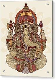 Ganesha Acrylic Print by Valentina Ramos