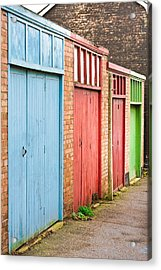 Garage Doors Acrylic Print by Tom Gowanlock