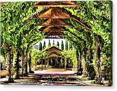 Acrylic Print featuring the painting Garden by Muhie Kanawati