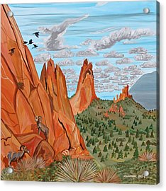 Garden Of The Gods Acrylic Print by Mike Nahorniak