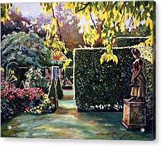 Garden Statue Acrylic Print by David Lloyd Glover