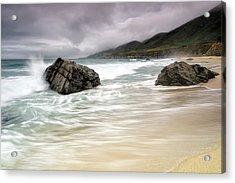 Garrapata Beach Ca Acrylic Print by Chris Frost
