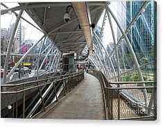 Gateway T Station  Pittsburgh Acrylic Print by Amy Cicconi