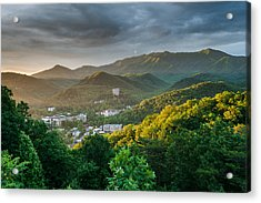 Gatlinburg Tennessee Great Smoky Mountain Sunrise Acrylic Print by Mark VanDyke