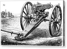 Gatling Rapid Fire Gun Acrylic Print by Universal History Archive/uig