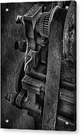 Gears And Pulley Acrylic Print by Susan Candelario