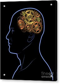 Gears In The Head Acrylic Print by Michal Boubin